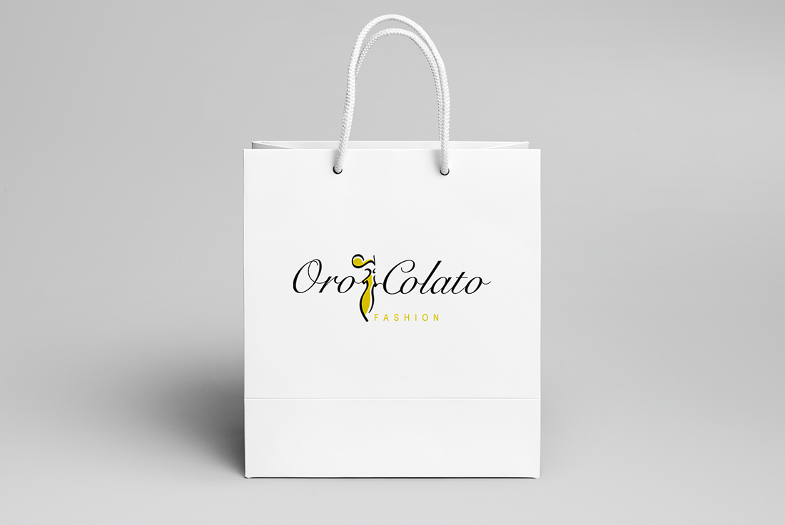 Logo Design e Shopping Bag Orocolato Fashion