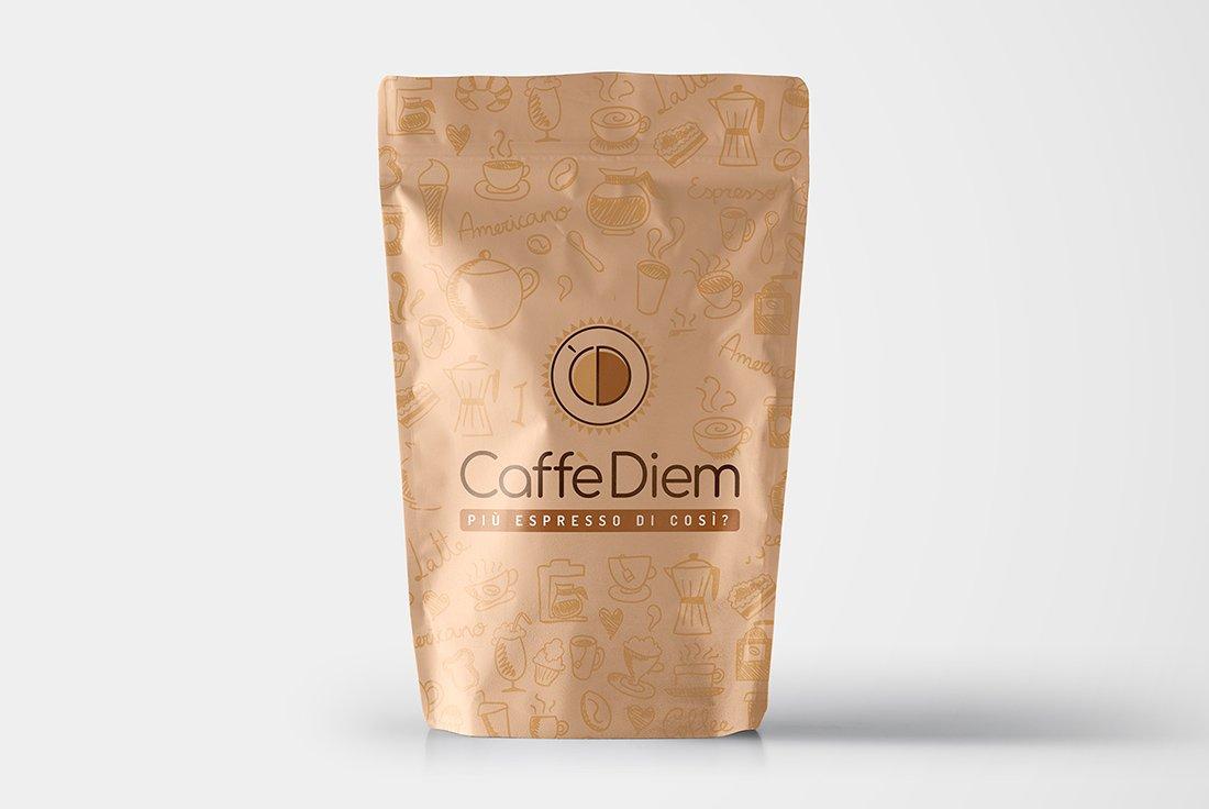 logo su busta caffe