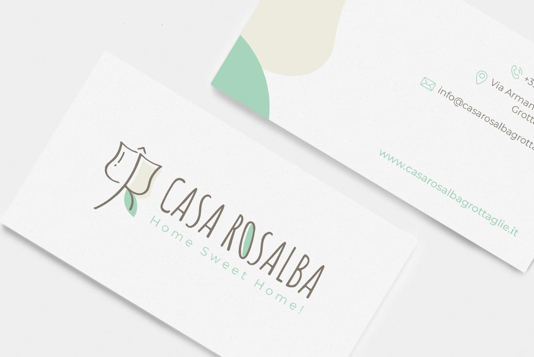 Logo Design e coordinato aziendale Casa Rosalba