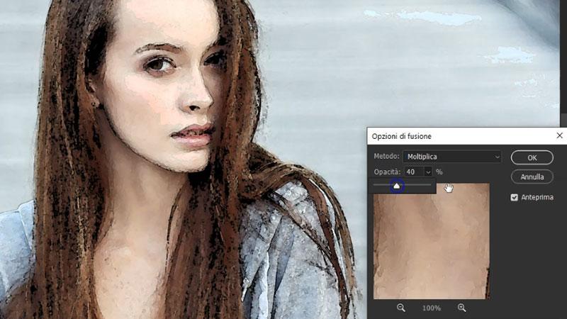 effetto acquerello photoshop