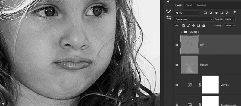 bianco e nero con photoshop