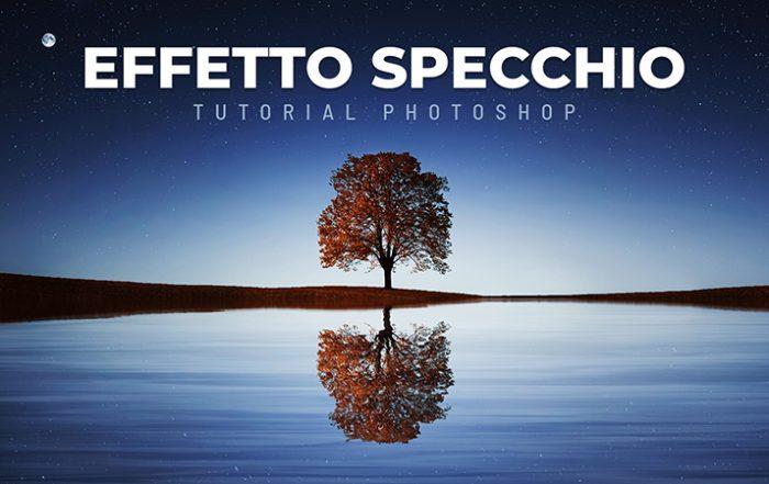 effetto specchio photoshop