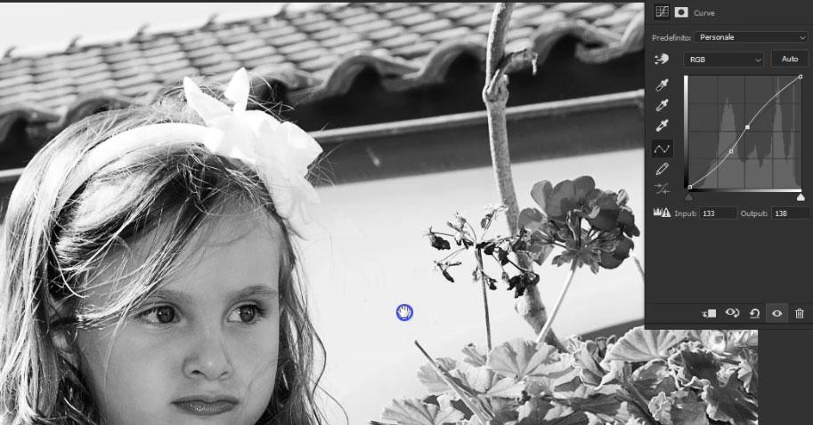 foto bianco e nero photoshop