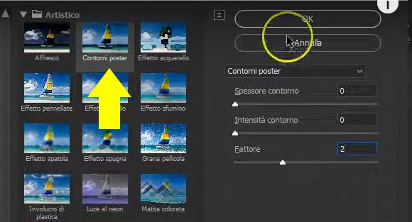 filtro contorni poster
