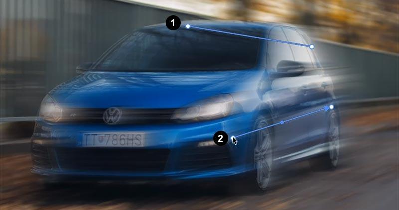 effetto movimento auto