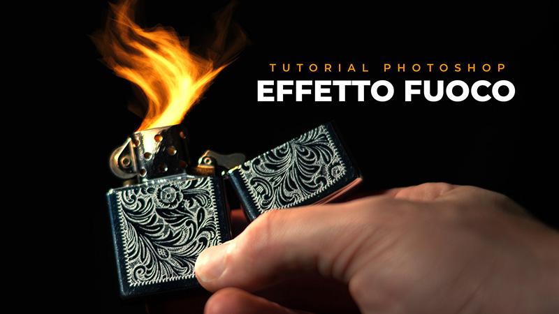 effetto fuoco photoshop