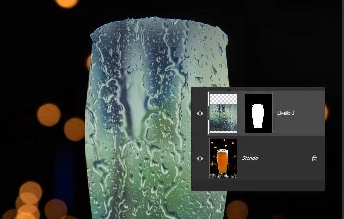 effetto gocce d'acqua photoshop
