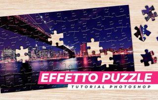 effetto puzzle photoshop