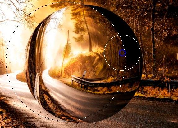 riflesso ombra sfera