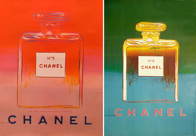 andy warhol chanel n 5
