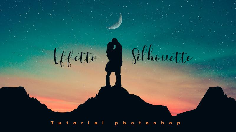 effetto silhouette photoshop