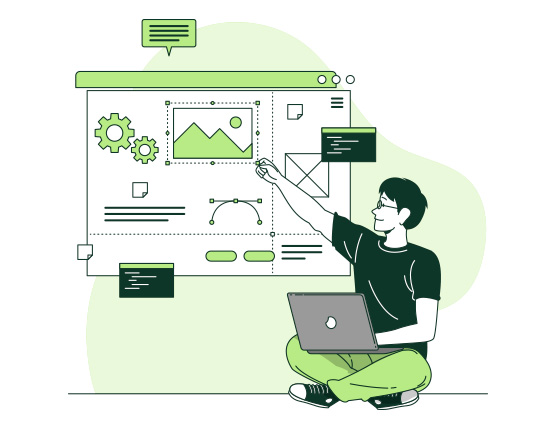 grafica personalizzata sito web
