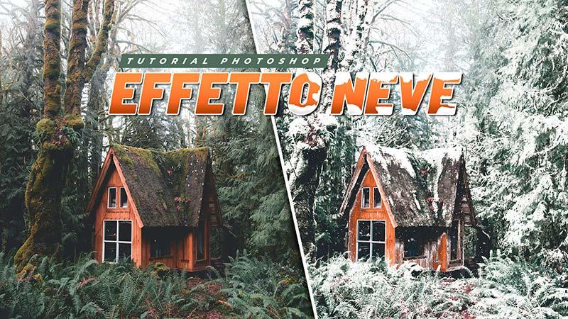 effetto neve photoshop