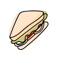 un gustoso sandwich