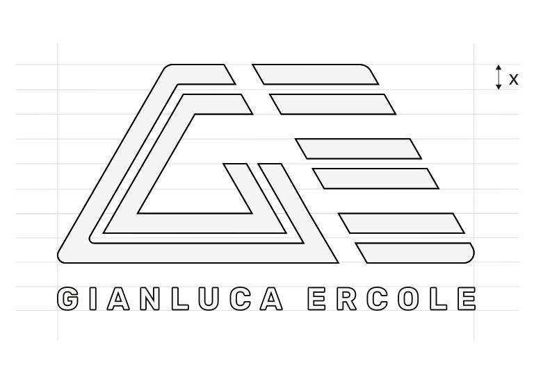 logo geometra lettering