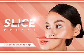 effetto slice photoshop